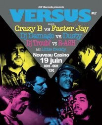 Versus Party, Nouveau Casino, Paris, Battle, Soirée, Jazz Liberatorz Dusty, Damage, Faster Jay, Crazy B, Troubl, R-ash