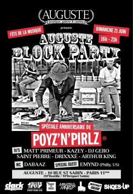 Auguste, fête la musique, Poyz & Pirlz, Gero, Arthur King, Kazey, Drixxxé, Matt Primeur, Dabaaz