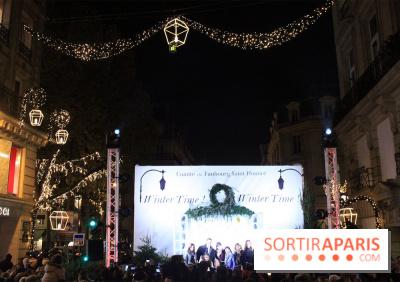 Illuminations de Noël 2017 de la rue du Faubourg Saint-Honoré
