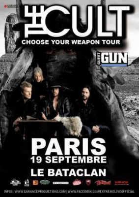 THE CULT en concert le 19 septembre au Bataclan