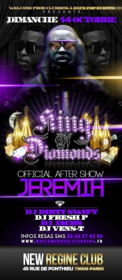 JEREMIH OFFICIAL AFTER SHOW - KING OF DIAMONDS PARTY @ NEW REGINE CLUB