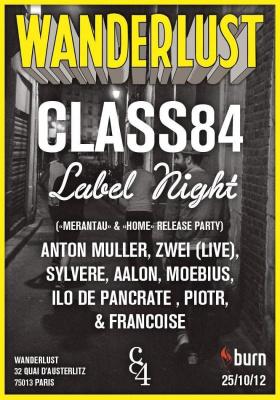 CLASS84 LABEL NIGHT @ WANDERLUST