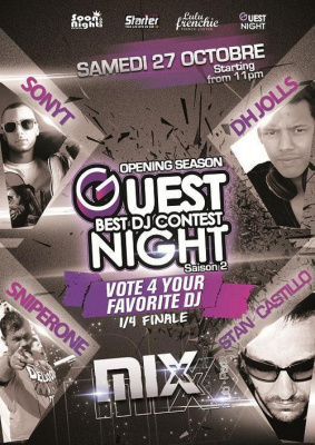 GUESTNIGHT BEST DJ CONTEST Opening Season