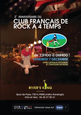 3ème anniversaire du Club Français de Rock à 4 Temps