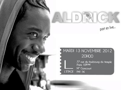 Concert Soul: Aldrick part en Live
