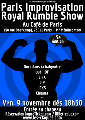 Paris Improvisation Royal Rumble Show - 5e édition