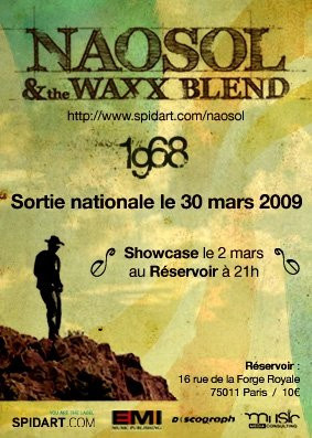 Concert, Paris, Naosol & The Waxx Blend, Réservoir, Spidart, 1968