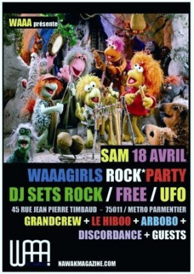 Soirée, Paris, Clubbing, Blog, UFO, Waaagirls rock party