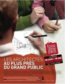 Foire de Paris 2009, architectes, consultation, stand, gratuit