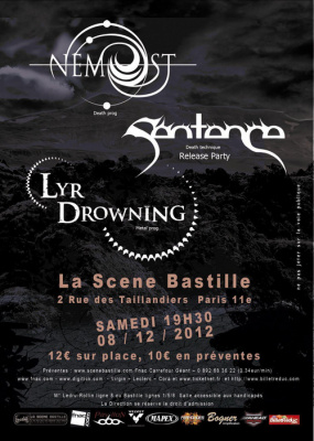 Nemost + Lyr Drowning + Sentence