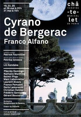 Spectacle, Opéra, Cyrano de Bergerac, Edmond Rostand, Patrick Fournillier, Petrika Ionesco, Placido Domingo, Théâtre le Châtelet