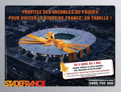 Stade de France, Chasse au trésor, Vacances de Pâques