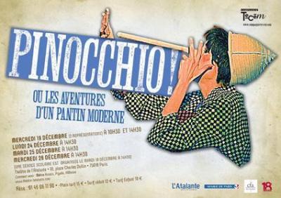 Pinocchio! ou les aventures d'un pantin moderne au Théâtre de l'Atalante