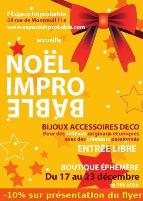 Expo/vente de créateur : Noel improbable