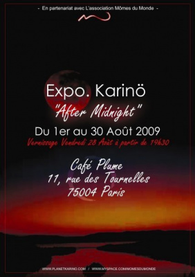 Karinö, After Midnight, Exposition, Paris, Café Plume, Bastille