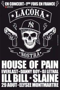 Coka Nostra, House of pain, Elysée Montmartre, Concert, Hip Hop