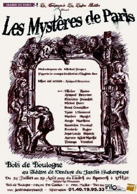 Mystères de Paris, théâtre de verdure, jardin shakespeare, Théâtre plein air