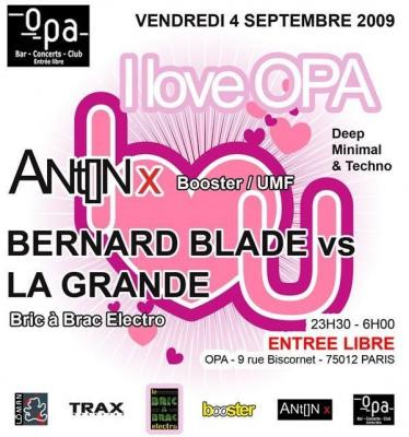 I Love OPA, OPA, Paris, Soirée, Clubbing, Anton X
