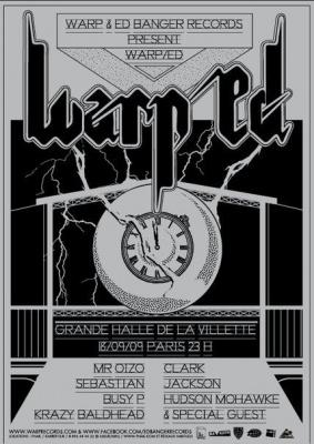 Warp, Ed Banger, Warp/Ed, Halle de la Villette, Paris, Soirée, Clubbing