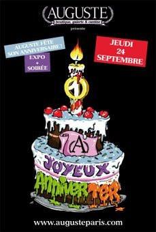 Auguste Birthday, Soirée, Paris, Nouveau Casino