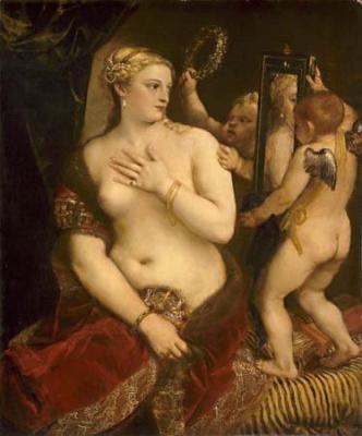 Tiziano Vecellio, dit Titien (1488/90-1576), Vénus au miroir, Huile sur toile, 1, 25 x 1, 05 m, National Gallery of Art, Washington, Andrew W. Mellon Collection, Inv. 1937.1.34 © Courtesy Board of Trustees of The National Gallery of Art, Washington