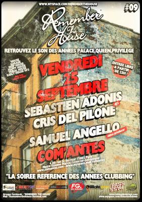 Remember the house, Com'antes, Soirée, Paris, Clubbing