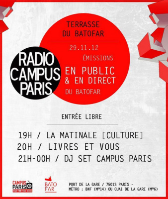 Radio Campus Paris en direct du Batofar