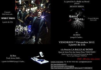 Concert Moody Birds + DJ Ben