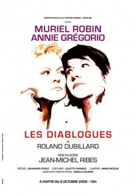 Diabologues, Muriel Robin, Annie Grégorio, Marigny, Théâtre, Spectacle, Paris