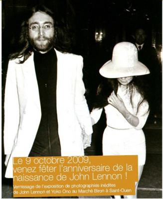 John Lennon, Yoko Ono, Henry Pessar, Beatles, Mondial de l'Antiquité, Marché Biron, Puces Saint Ouen