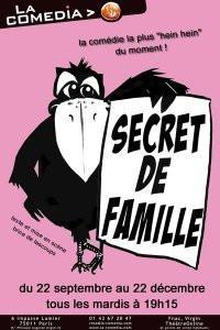 Secret de Famille, Spectacle, Théâtre, Paris, Comedia