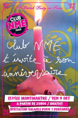 Club NME, Anniversaire, 1 an, Elysée Montmartre, British party, Paris, Soirée, Clubbing