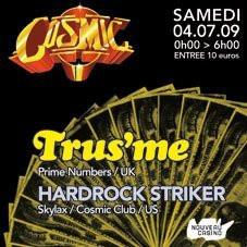Cosmic Club, Nouveau Casino, Soirée, Paris, Trus'me