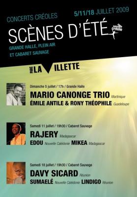 Scènes d'été, Villette, Grande Halle, Cabaret Sauvage, Paris