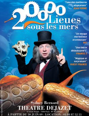 20 000 lieues sous les mers, Spectacle, théâtre, Dejazet, Jules Vernes