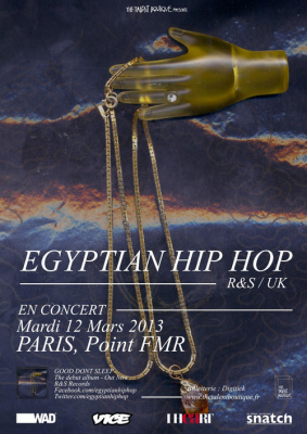 EGYPTIAN HIP HOP en concert à Paris.