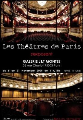 Mathieu Chevalley, Théâtres de Paris, galerie J&T Montes, Paris, Photographies, Exposition