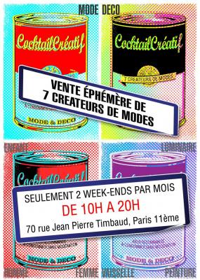 Cocktail Créatif, Mode, Shopping, Paris, Espace Timbaud
