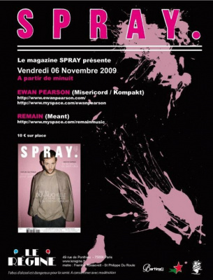 Spray, Erwan Pearson, Remain, Regine, Paris, Soirée, Clubbing