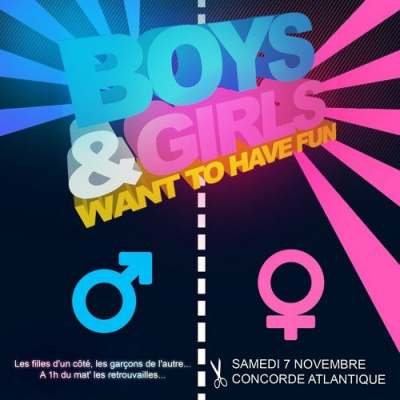 Boys & Girls Just Want To Have FUN, Concorde Atlantique, Soirée, Paris, Clubbing