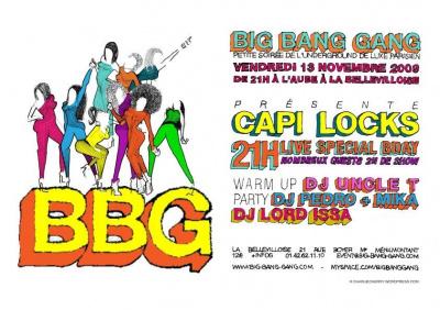 Big Bang Gang, Capilocks Bday, Bellevilloise, Soirée, Paris, Clubbing