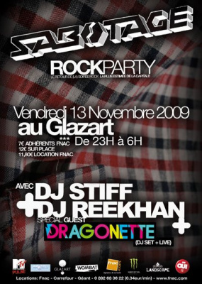 Sabotage, Rock Party, Dragonette, Glazart, Soirée, Paris