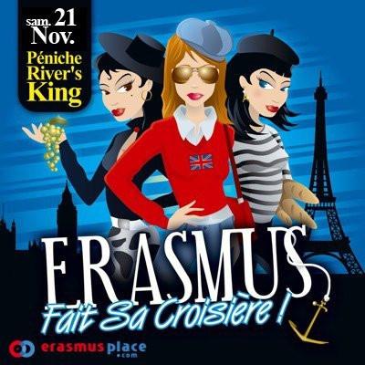 Erasmus Party, Croisière, Rivers King, Soirée, Paris