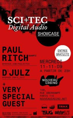 SCI, TEC, Showcase, Paul Ritch, D'Julz, Nouveau Casino, Soirée, Paris