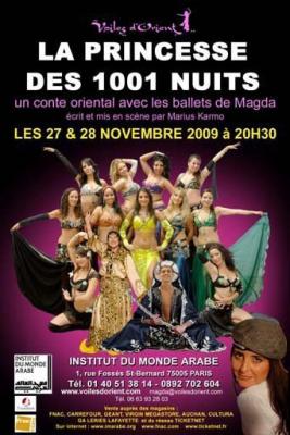 La Princesse des 1001 nuits, Institut du Monde Arabe, Magda, Spectacle, Paris
