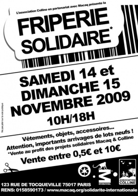 Friperie Solidaire, Macaq & Colline, Shopping, Paris