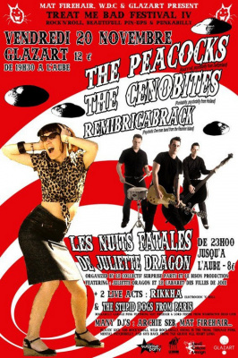 Treat me bad festival, Washington Dead Cats, Glazart, Paris, Concerts