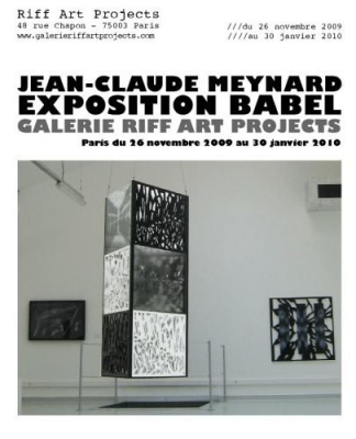 Jean-Claude Meynard, Babel, Exposition, Galerie, Riff Art Projects, Paris