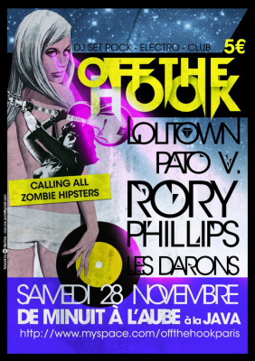 Off The Hook, Java, Lolitown, Rory Phillips, Soirée, Paris