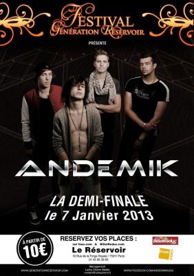 Andemik - Festival Génération Réservoir